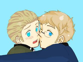 Hetalia SweGer Kiss by PAR4NORM4L-N1GHTM4RE