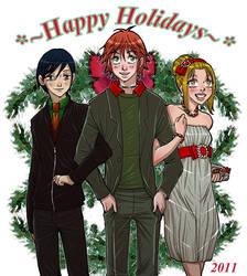 happy holidays offbeat by wulfmune