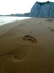 Giant footprint... by Johny-Leek-Sama
