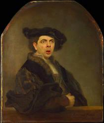 Rembrandt Self Portrait Hijacked by Mr Bean by RodneyPike