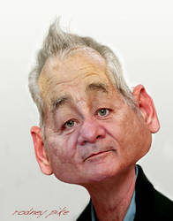 Another Caricature Study of Bill Murray by RodneyPike