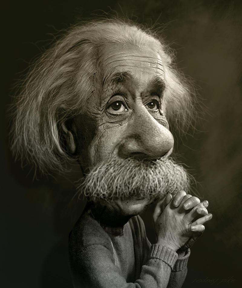 Albert Einstein Caricature Study by RodneyPike