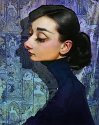 Audrey Hepburn Caricature 2017 by RodneyPike