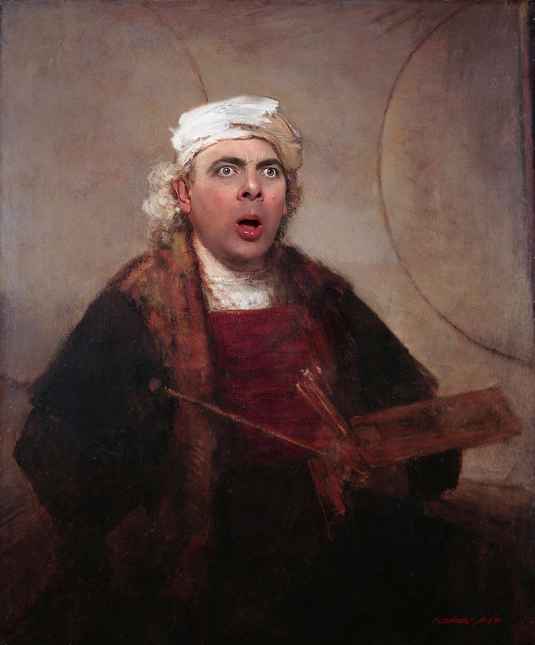 Mr Bean Hijacks Another Rembrandt Masterpiece by RodneyPike