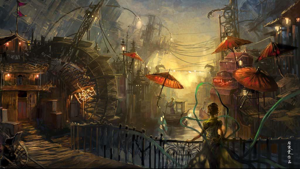 jetsam city II by henryz