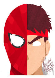 My Minimalist MvC Spider Man e Ryu by thr2e