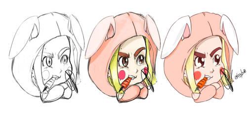 Rabbit sketch @ninfapeach by thr2e