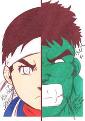 Sakura e Hulk by thr2e