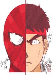 Spiderman e Ryu by thr2e