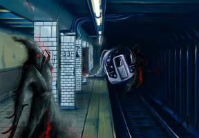 Abandoned Subway by Corwin-Cross