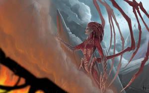 Queen of Blades by Corwin-Cross