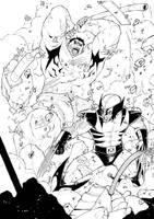 wolverine vs hulk by deemonproductions