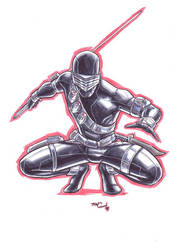 snake eyes MARKER MADNESS by deemonproductions