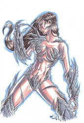 witchblade MARKER MADNESS by deemonproductions