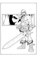 HE-MAN SKETCH INKED by deemonproductions