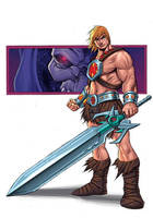 HE-MAN SKETCH COLOURED by deemonproductions