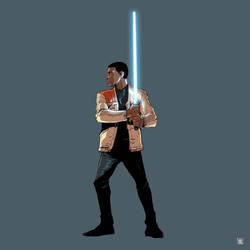 FINN STAR WARS FORCE AWAKENS by deemonproductions
