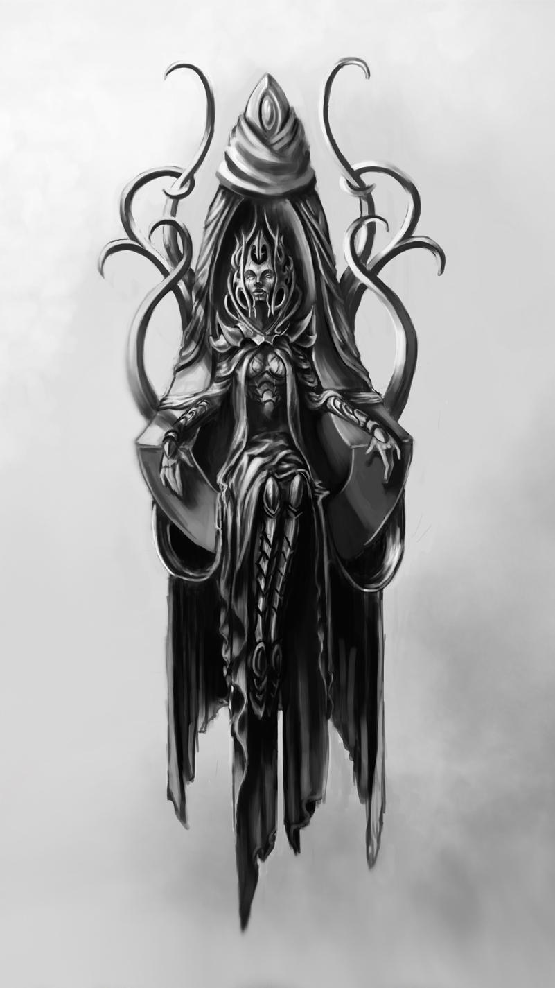 alien queen by InsaneInfernO