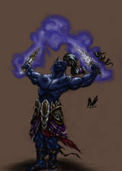 dark elf shaman by InsaneInfernO