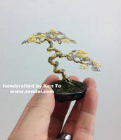 Gold and Silver Wire bonsai tree by Ken To by KenToArt