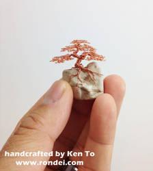 Micro Wire bonsai tree on a rock by Ken To by KenToArt