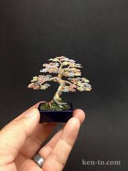 A 3 color wire bonsai tree by Ken To by KenToArt