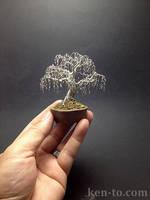 Creepy weeping wire bonsai tree by Ken To by KenToArt