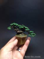 Flocked mame wire bonsai tree by Ken To by KenToArt