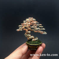 3-color wire bonsai tree by Ken To by KenToArt