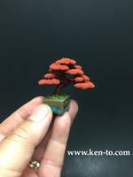 Small autumn wire bonsai tree by Ken To by KenToArt