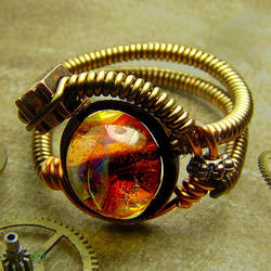 Steampunk Borosilicate Ring by prexium01
