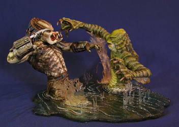 Predator vs. Gillman by GorillaKing18