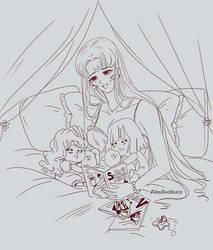 Princess Moon and babys by Alex-Asakura