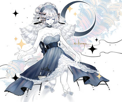 Sleeping moon by sakonma