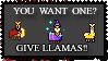 Give Llamas by The-Caligula