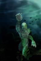Creature From the Black Lagoon by gryphons-aerie