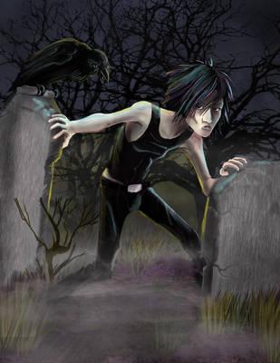 Graveyard Stalker Katarina by gryphons-aerie