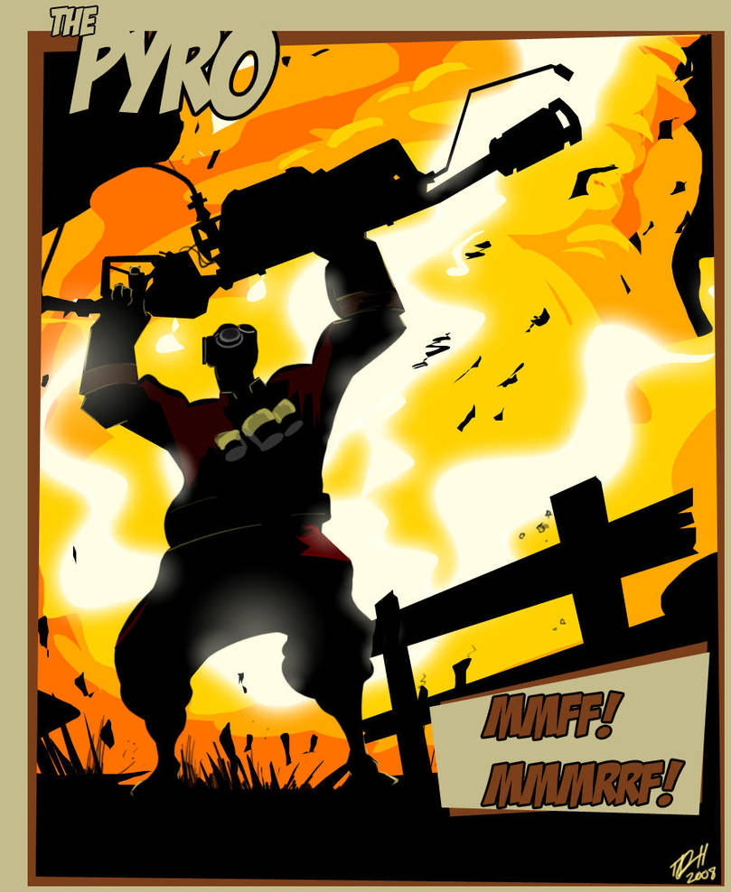 Team Fortress 2: The Pyro by RevDenton