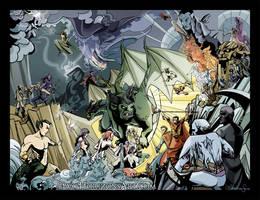 Marvel Fantasy AU by TwoHorizonsArt