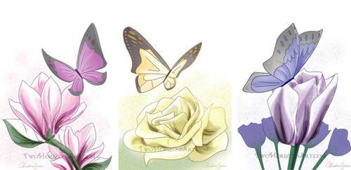 Butterflies by TwoHorizonsArt
