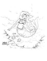 Mermaid (inktober2016) by TwoHorizonsArt