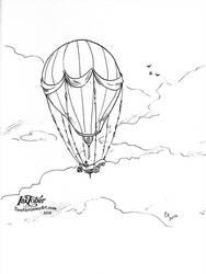 Balloon- - inktober2016 by TwoHorizonsArt