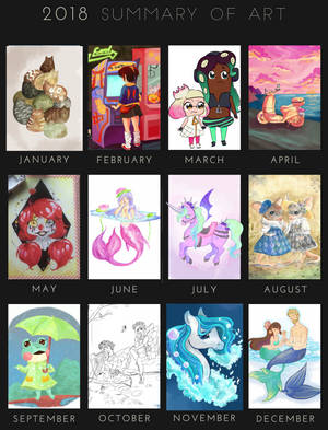 2018 Art Summary by otter-faerie