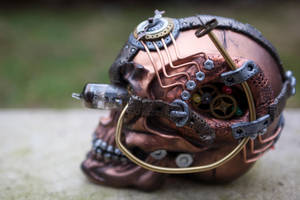 Steampunk Industrial Skull - Right Side by Devilish--Designs