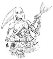 Zora Link Sketch by CosmicRick