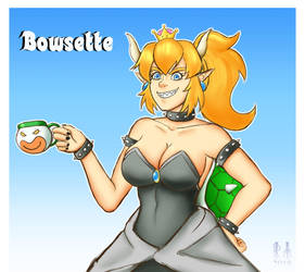 Bowsette by CosmicRick
