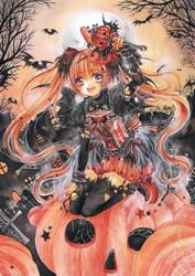 - Pumpkin Witch - by cherriuki