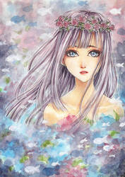 Lilac Hair by cherriuki
