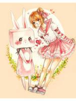 Pink Bunny by cherriuki