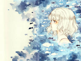 Blue fishes by cherriuki